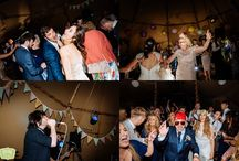 Tipi evening reception and dancing