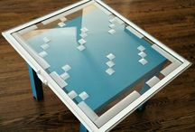 "minecraft glass panes / Simple to do and ""accurate"" minecraft glass panes. Privacy film, scissors and patience. The kids love it.."