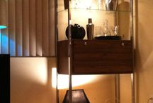 Old Hollywood DIY budget apartment  / Home bar gold silver goodwill spray paint lighting / by Paragon voyager