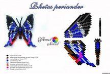 Бабочки бисером
