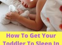 Toddler and Sleep / Moving your toddler to their own bed from a cot can result in some sleep regression or challenges getting them to sleep through. #harassedmom #sleep #toddlersandsleep #sleeptoddlers