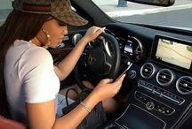 Girls whit cars