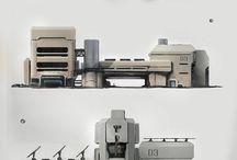 Lowpoly - SciFi Buildings
