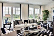 Black cream grey living rooms