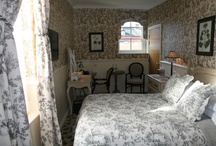 Toile de Jouy / The pretty Coach House bedrooms in Lewis and Wood Vauxhall Gardens / by The White Horse Romsey