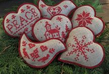 Projects to Try / cristmas ornaments  cross stich