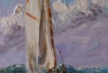 Sea and sailboats