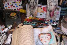 Billeder/collager af gamle bøger