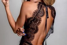 black lace lingerie