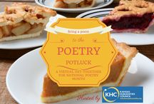 """2015 Poetry Potluck (Pin-Up Poetry) / For the second year, KHC is celebrating National Poetry Month with poetry postcards. This year's pin-up poetry theme is """"Poetry Potluck"""": http://kansashumanities.org/2015/03/poetry-potluck/  *Please note the views expressed in these poems do not necessarily represent the views of the Kansas Humanities Council.*"""