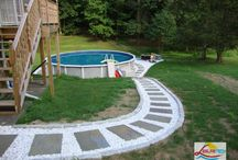 pool, deck, landscaping ideas