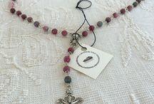 I miei rosari / Rosari in ossidiana ametista agata angelite occhio di tigre smeraldo quarzo Etc