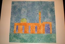 """MMQG Quilts For Quebec / Fabric at Work blocks created for the Montreal Modern Quilt Guilds """"Quilts for Quebec"""""""