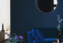 Color Watch: Midnight Blue / The jewel tone color family spanning midnight blue, forest green, and royal purple. Color trend 2017, SS17, AW17, FW17, interior trend, interior design.