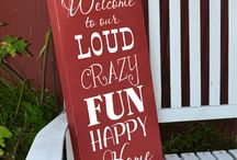 Signs: for home etc / Signs of all kinds