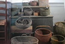 Baskets ,firkin buckets & pantry boxes. / Antique baskets,buckets,etc. / by Susan Rider