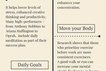 Healthy Routines and Productivity