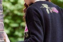 вязание с вышивкой