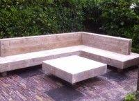 Steigerhouten tuinmeubelen / Laat de lente maar komen. Bij steigerhouttrend zit u goed! Loungesets, tuinbanken en tuintafels alles is mogelijk.