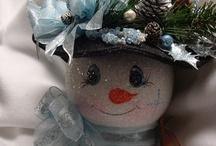 Christmas- snowmen crafts / by Deborah McConnell