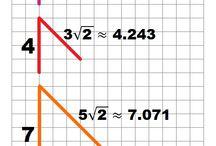 Háromszögek, négyzetek