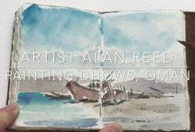 Watch How to Paint / Tutorials where Alan demonstrates how to paint in watercolours & oils. Landscapes, Cityscapes, Architecture, Figures & Portraits.