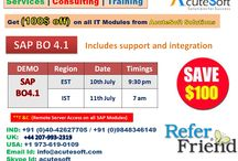 Attend FREE DEMO and Get $100 off for SAP BO4.1 Online Training from Acutesoft
