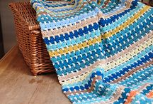 The Yarn Stash Series - Free Crochet Blanket Patterns / These blankets really are classics that anyone can tackle. All you need is a bunch of your favourite yarn colours - as many or as few as you like - and you're away. Using a simple pattern repeat this is the perfect beginner project to practise your tension and technique.  The series will include blankets made with approximately 250g of double knit yarn using a 5mm/H hook. The free download pattern has links to my blog for more hints and tips too.