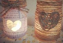 DIY/ jar candle holder