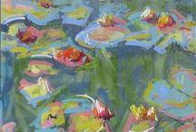 Waterlily paintings
