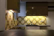 Cement Tiles - kitchen  ideas / Decorative tiles can renovate your kitchen, giving it a new  look.