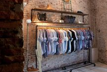closets and clothing racks