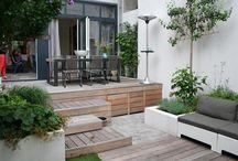 Tuininspiratie | tuinontwerp | terras / Tuin terras architectuur stadstuinen villatuinen