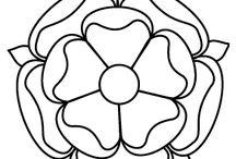 Patterns: Tudor roses and etc. - Minták: Tudor rózsák és hasonlók