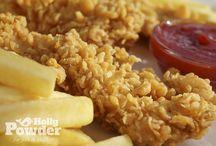 Panierowany kurczak Holly Powder / www.hollypowder.pl Tak apetyczne dania możesz serwować we własnym lokalu gastronomicznym!