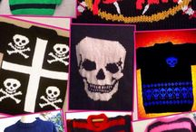 Goth knitwear / Bexknitwear collection of scary sweaters