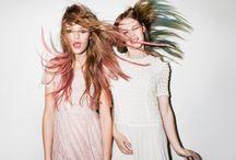 H a i r y  M a r y / short hair, long hair, pink hair, blue hair.
