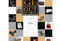 Schuhhandel Geschenkgutscheine und Gutscheine / Gutscheinvordrucke für den Schuhhandel.