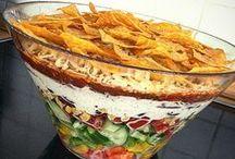 Salat und grillen