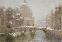 "Canal Bridge / ""Canal Bridge,"" William Partridge Burpee, Pastel on paper, Jerald Melberg Gallery."