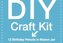 DIY Kits from SRM / Everything you need to make these awesome projects are included in your kit.  Just open the box and create!  And when you are done, remove the label from the box and re-use it or even craft it!