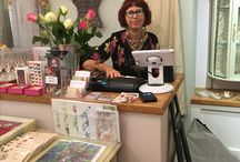 """Mollie Makes Handmade Awards 2017 / Images from my new atelier/showroom in Cheltenham """"Atelier 19"""" where I create and sell my own hand embroidered designs as well as work by many other designer makers. Applying for New Start-up Business and Handmade Champion Awards"""