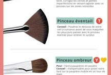 pinceaux maquillages