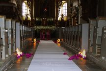 Dekoracje ślubne - kośćiół