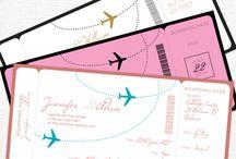 Plane ticket invite