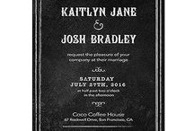 2015 Wedding Invitation Trends / 2015 wedding invitation trends are dominated by rustic and bohemian charm.  A great deal of focus will be placed on fonts so typography style invites will be prominent.  Look for pastels, watercolors and unexpected invitation shapes.
