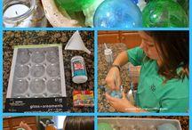 Glass floats to make