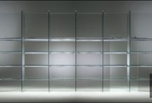 Glass Bookcase / A group of lines and invisible plot that illustrates the surrounding space, just as a book, it's story. More on our new website www.santambrogiomilano.it
