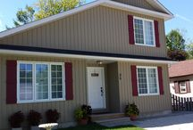 Shutters / Shutters, comes in vinyl or aluminum.  Options are endless with styles and colors