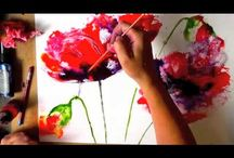 Art:  Painting Poppies